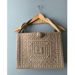 Trudy Handmade Embroidered Wool Purse